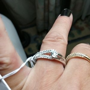 "kate spade Jewelry - KATE SPADE ""GET CONNECTED"" INFINITY RING! BNWT!!"